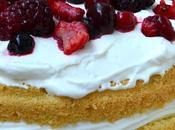 Gâteaux improvisé crème fruits rouges