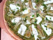 Pizza végétarienne pesto fanes radis