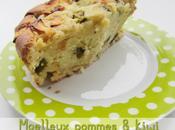Gâteau pommes kiwi blanc sucré