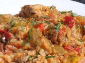 Jambalaya poulet, crevettes chorizo