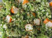 Céréales, brocoli surimi