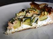 Tarte croustillante courgettes, chèvre frais basilic