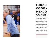 Déjeuner avec Cook l'enchère terminée dollars