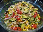 Couscous marocain, tomates cerises courgettes Salade