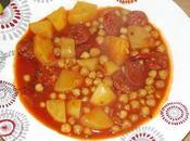 Pois chiche sauce pommes terre chorizo
