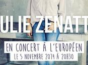 Julie Zenatti vous donne rendez-vous l'Européen!