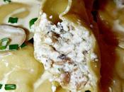 Raviolis champignons ricotta