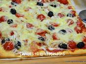 Pizza Oignons Verts Tomates Cerises.