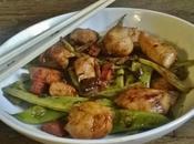 Poulet sauté Haricots plats avec sauce l'orange..C'est Rapide facile donc mange légumes parceque c'est bien