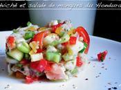 Céviché poissons crevettes légumes, salade mangues vertes Spécialités Honduras