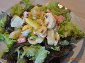 Salade poivrons, asperges, jambon