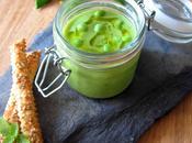 Gaspacho petits pois concombre mouillettes feuilletées sésame