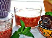 Soupe fraises menthe ramadan moubarak karim