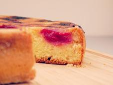 Gâteau renversé framboises