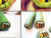 Cane abeille pâte Fimo