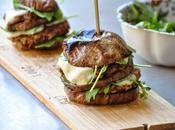 Veggie burger d'aubergine mozzarella
