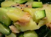 Salade pommes terre, saumon concombre