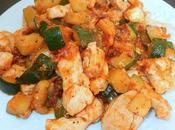 Filets poulet courgettes tomates séchées l'huile d'olive