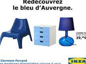 Ikea Clermont-Fd campagne d'affichage dans rues clermontoises