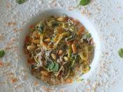 Spaghetti courgettes, tomates séchées pignon, crème parmesan