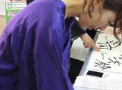 découverte calligraphie avec Kyoko