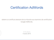J'ai obtenu certification Google Adwords