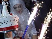 STOÏCISME. Guerre Gaza (photos): jeune couple marie malgré bombes