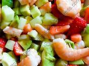 Salade crevettes, fraises avocats Prawn, Strawberry Avocado Salad
