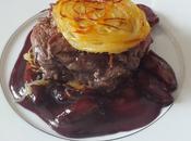 """""""Burger"""" d'aloyau boeuf truffes, échalotes confites cassis"""