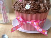 Cupcake géant deux chocolats