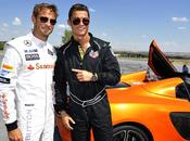 Ronaldo s'éclate avec Button bord d'une McLaren