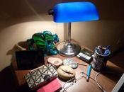 Carnet Sous halo lampe bleue