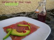 Carpaccio thon rouge grenade