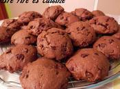 Cookies tout chocolat vergeoise noisettes