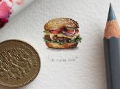 Miniature Paintings Postcards Ants