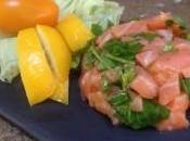 Leger tartare saumon coriandre