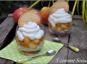 Pommes Tatin verrine, crème fouettée mascarpone