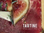Tartine viande grison, chèvre figues fraîches