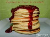 PANCAKES FRAMBOISE-BEURRE CACAHUETE sans lait, gluten