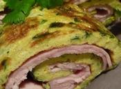Omelette roulée jambon curry herbes fraîches