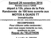 Rando Téléthon Quads motos Neuvy Loire (58) novembre 2014