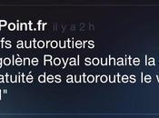 Autoroutes, communication politique Royal)