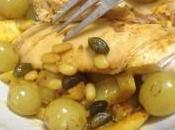 Escalopes poulet raisins façon tajine