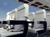 avion futuriste, sans fenêtres fuselage invisible