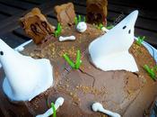 Gâteau fantômes chocolat Ghost Chocolate Cake