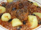 Jarret boeuf tomates, olives poivrons