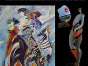 Sculpture peinture bernard cadene valerie marty