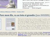 """Pars fils, loin grandis"", Joss Doszen Edition-Diffusions Athéna"