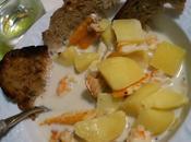 Soupe Haddock-Pommes Terre-Crevettes