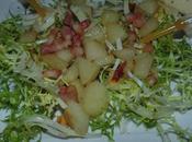 Salade poires endives lard
